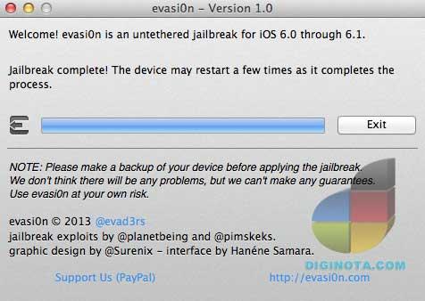 Tutorial de cómo hacer jailbreak  para iOS 6 y 6.1 con Evasi0n
