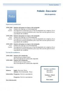 Currículum Vitae Cronológico: Modelo 1