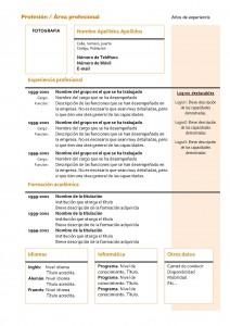 Currículum Vitae: Modelo Cronológico 4