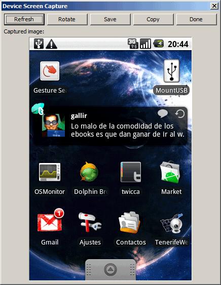 device screen capture captura pantalla android