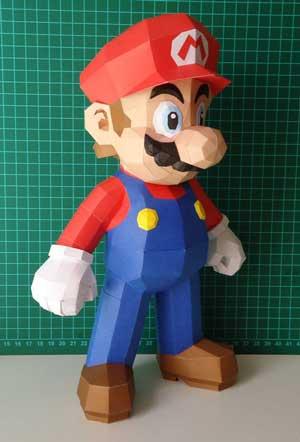 5 paper toys geeks para los amantes de Mario Bros (Figuras de Papel)