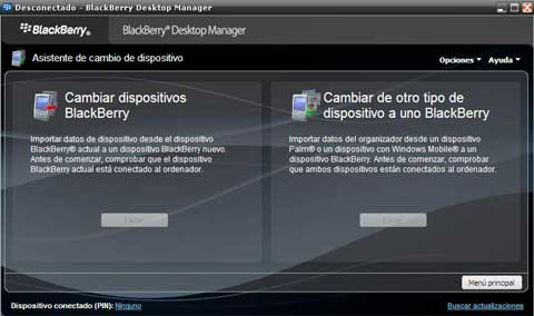 cambio de blackberry