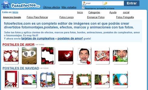 Efectos para tus fotos¡ postales de Amor, Navidad,Etc. y marcos todos gratuitos