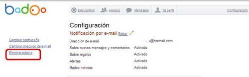 Eliminar cuenta de Badoo y/o eliminar perfil Badoo creado por Facebook