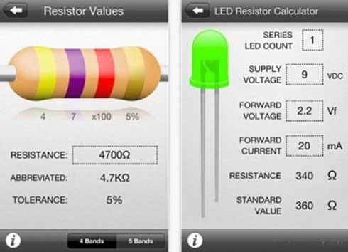 Como tener toda la información de componentes de electrónica en tu iPhone con Circuit Playground