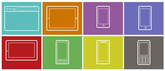 Plantillas para realizar bosquejos o Infografías para web, móviles y tablets  gratis