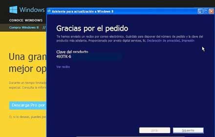 Windows 8 actualizar a original