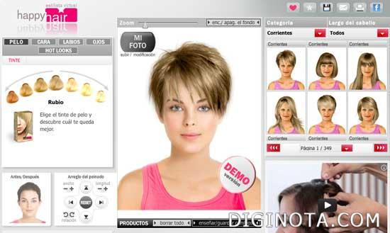 probar cortes de pelo