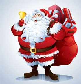 Colección de vectores de santa o Papa Noel para Navidad 0